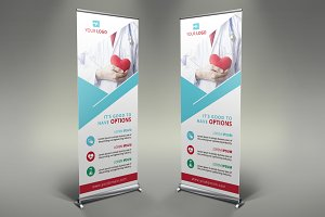 Flower Shop Roll Up Banner