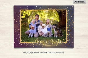 "Christmas Card ""Merry and Bright"""