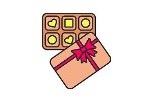 Candy box color icon