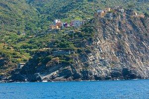 Corniglia from ship, Cinque Terre
