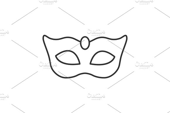Carnival mask linear icon
