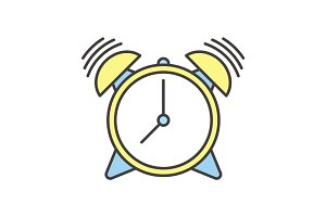 Ringing alarm clock color icon
