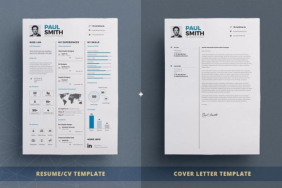 infographic resumecv template vol7 resume templates creative market