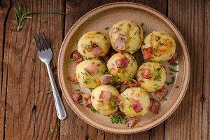 Bacon dumplings delish food