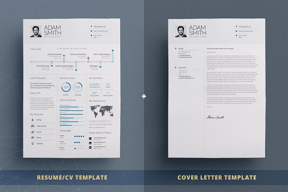 infographic resumecv template vol8 resume templates creative market