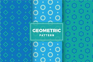 Geometric Vector Patterns #136