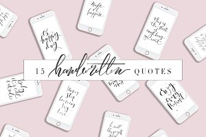 Handwritten Quotes Bundle