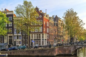 Traditional old buildings in Amsterd