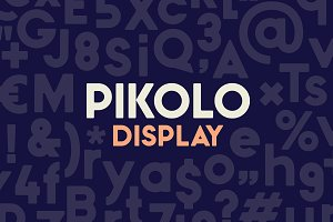 Pikolo Display Font