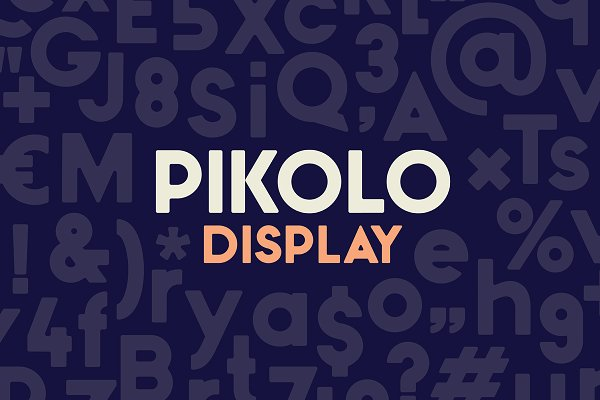 Best Pikolo Display Font Vector