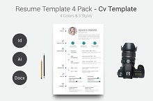 Resume/CV Template 4 Pack