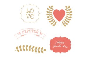 Love elements wedding clipart