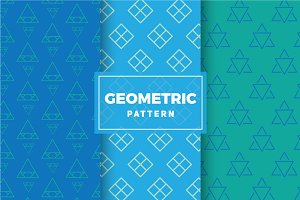 Geometric Vector Patterns #176