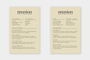 Reunion Menu Template