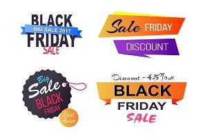 Big Sale Choice Black Friday Vector Illustration