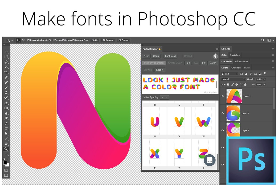 Fontself: Make fonts in Photoshop ~ Plug-ins ~ Creative Market