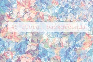 Floral abstract backgrounds