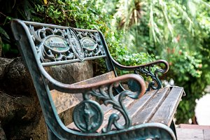 beautiful retro bench