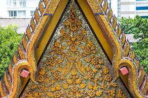 the ornament of a Buddhist temple