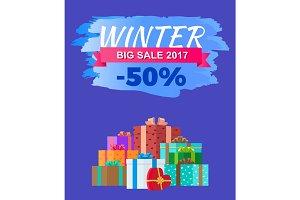 Winter Big Sale 2017 Discount Advert Promo Label