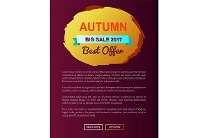 Autumn Best Choice 2017 Offer Round Promo Label