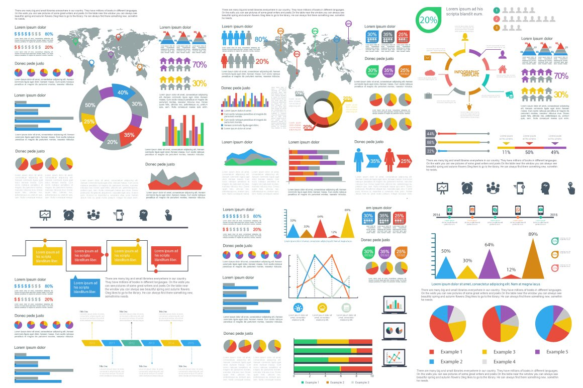 free infographic templates - infographics template illustrations creative market