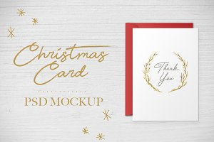 Christmas Card PSD Mockup