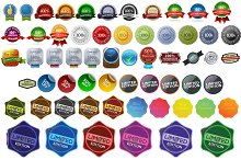 61 BADGE ICONS PNG+PSD FORMAT