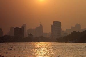 Bangkok city in morning.