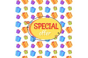 Special Offer Sale Advertisement Seamless Pattern