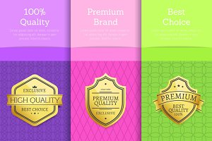 100 % Quality Premium Brand Choice Set of Posters