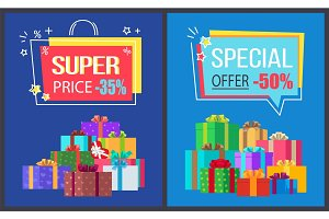 Super Price Special Offer Discounts Off Posters