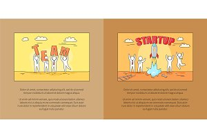 Team and Startup Images on Vector Illustration