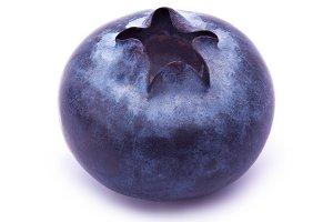 Blueberry isolated on white