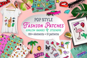 Girlish Fashion pop style clipart