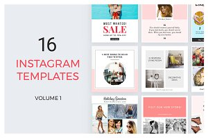 16 Instagram Templates vol.1