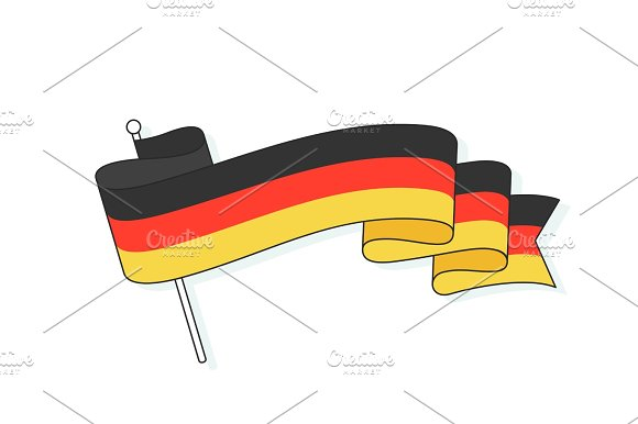 Flag of Germany with three stripe. German flag