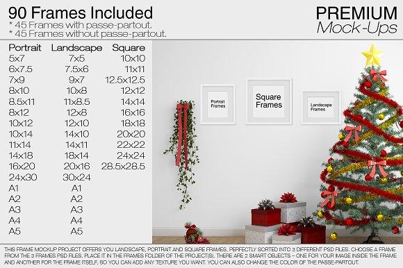 Christmas Interior & Frames Pack ~ Product Mockups ~ Creative Market