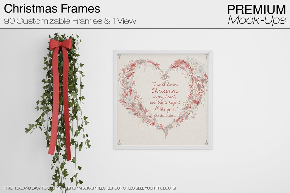 Christmas Frames Pack ~ Product Mockups ~ Creative Market