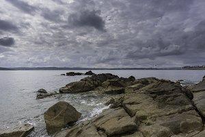 Coast of La Coruna, Spain.