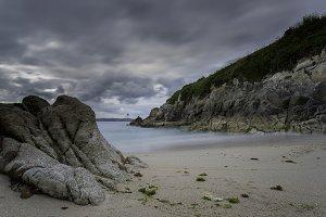 Small beach in La Coruna (Spain).