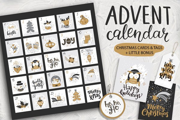 Christmas advent calendar.