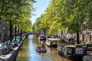 Historic canals of Amsterdam.