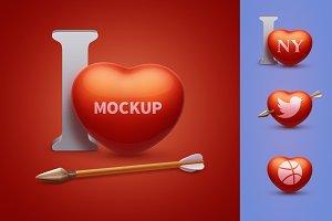 Heart mockup