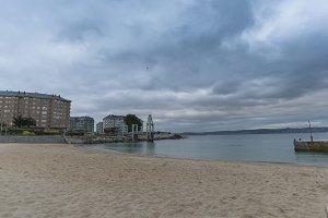 San Amaro beach (La Coruna, Spain).