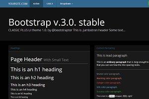 Bootstrap 3.0. theme black&blue skin