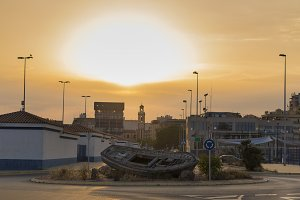 Roundabout in Castellon, Spain.