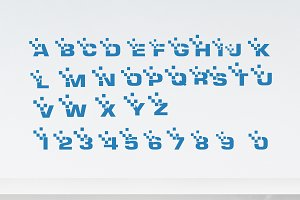 alphabet logo & number logo digital