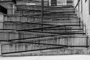 Zig zag stairs.