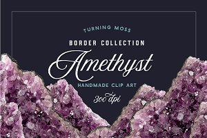 Amethyst Borders - Gemstone Edges